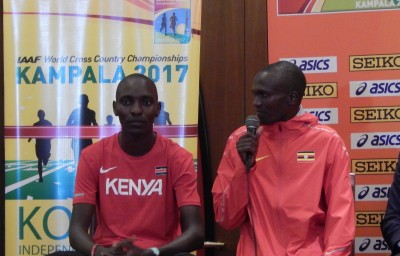 Stephen Kiprotich with the mic