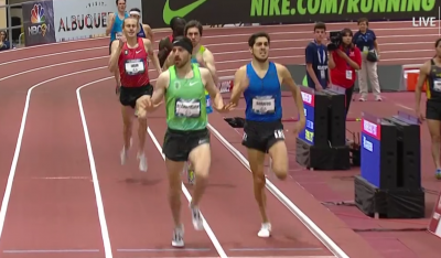 Blankenship is able to tap the brakes as he passes Soratos for the win