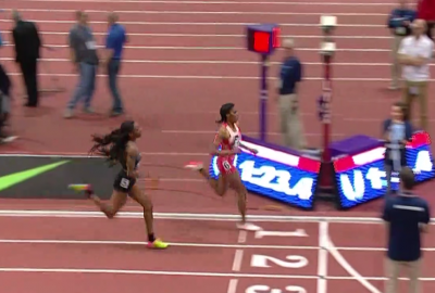 Okolo Couldn't Catch Ajee Wilson at the Finish
