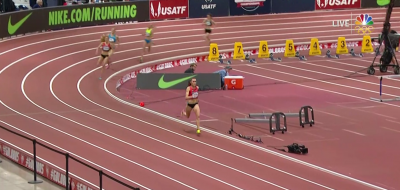 Houlihan way in front in 2 mile on final lap