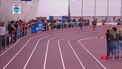 Deajah Stevens Stepping on the Line on turn (this would get her DQd)