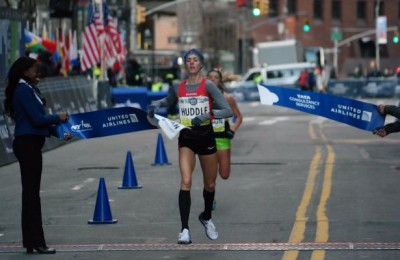 Huddle won her third straight NYC Half title in March