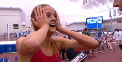 Talk about shocked: Karisa Nelson couldn't believe it herself