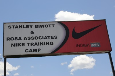 The Sign Outside of Camp LetsRun.com met Sumgong at in March (photo by Jean-Pierre Durand for the IAAF)
