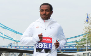 Kenenisa Bekele prior to the 2017 Virgin Money London Marathon (photo by Jane Monti for Race Results Weekly)