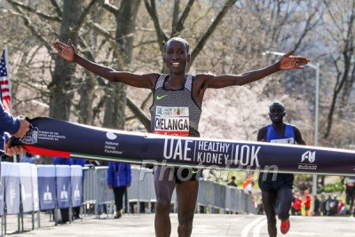 Chelanga winning the Healthy Kidney 10K in April