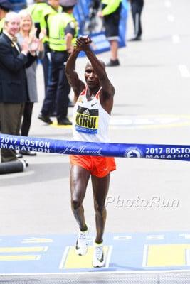 Geoffrey Kirui Wins Boston 2017 (and would win the World Champs)