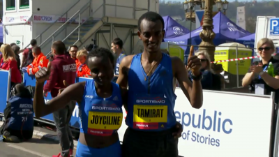 Winners Jepkosgei and Tamirat Tola