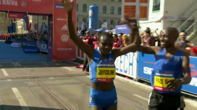 Jepkosgei after making history in Prague