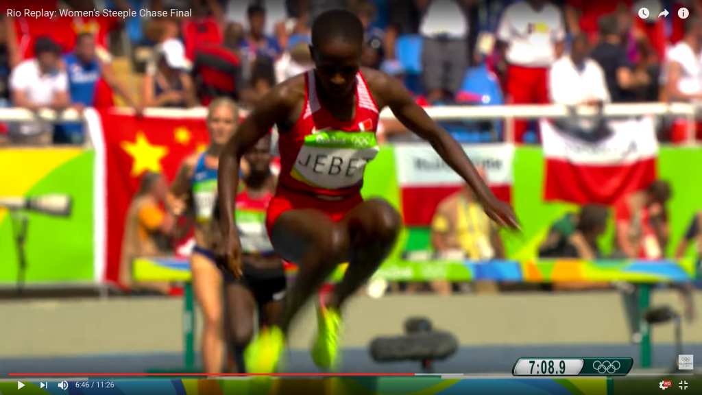 Jebet during last year's Olympic final