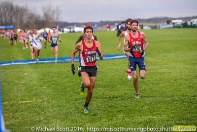 Fisher en route to a 5th-place finish at NCAA XC in November