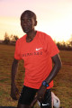 Kipchoge before a workout in Eldoret in March. Photo courtesy Jean-Pierre Durand for the IAAF,