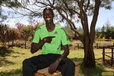 Brimin Kipruto at the Global Sports training camp in Kaptagat. Photo courtesy Jean-Pierre Durand for the IAAAF.