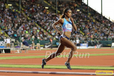 Dibaba won at Pre last year by seconds. We hope this one's closer.