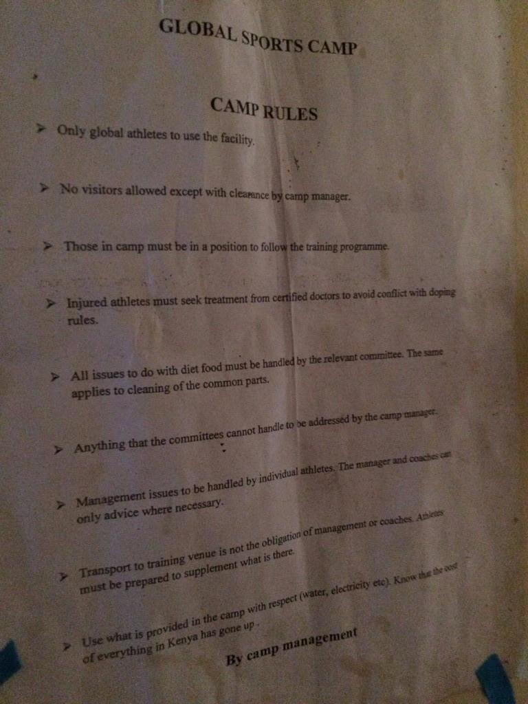 Global's camp rules