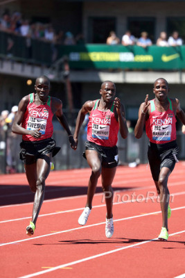 Tight final stretch in Bowerman mile