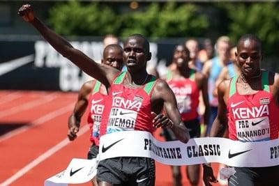 Kwemoi led a Kenyan sweep at Pre
