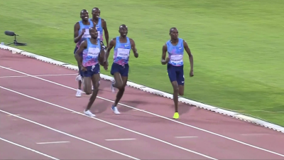 There was a great Kenyan battle in the home straight