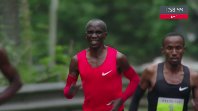 Kipchoge showing he's human