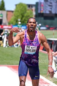 Taylor was pumped