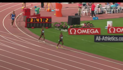 Kipyegon pulled clear in the final 100
