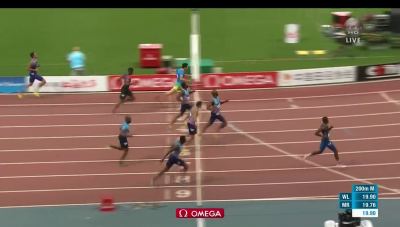 Lyles dominated the rest of the field