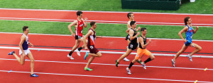 PHOTO: Craig Engels winning his preliminary 1500m heat at the 2017 NCAA Division I Track & Field Championships (photo by Chris Lotsbom for Race Results Weekly)