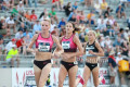 Shalane Flanagan, Kara Goucher, and Jordan Hasay at 2013 USATF 10,000m