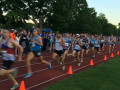 The marquee event of the night, the men's Adro Mile