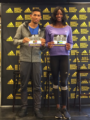 van Niekerk and fellow Olympic 400 champ Shaunae Miller-Uibo, both of whom will race the 200 in Boston on Sunday