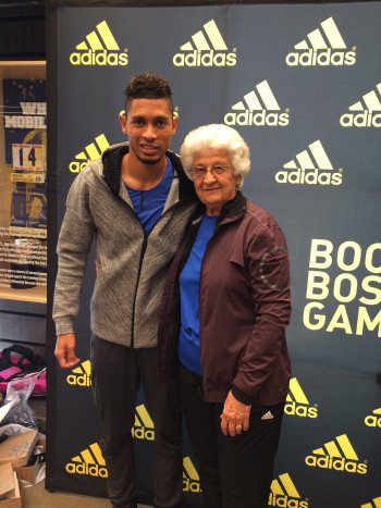 van Niekerk and his coach, Ans Botha