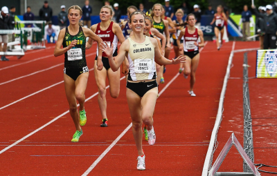 Jones picked up a pair of wins in her last trip to Eugene at Pac-12s