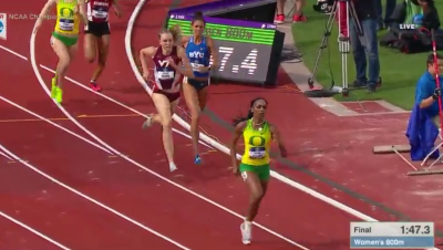 They tried to stick with Rogers but she pulled away the final 100m