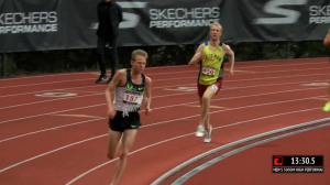 Ben Rainero Racing Galen Rupp in LetsRun Singlet This Summer