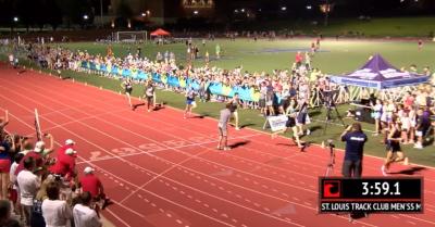 Reed Brown runs 3:59