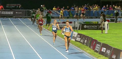 Garcia about to win mixed 3000m