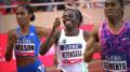 Wilson didn't beat NIyonsaba and Semenya in Monaco last year, but she did break the American record
