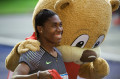 Caster Semenya with ISTAF's mascot Berlino. Credit: ISTAF/Camera 4