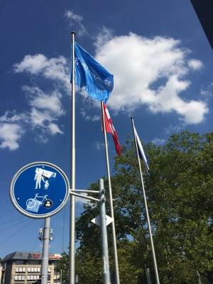 Flag for Weltklasse Zurich in Old Town Zurich