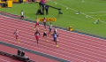 Kerley throws up his hands as nearly falls out of his lane