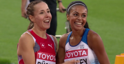 Even though Selina Buchel took the final auto spot from Adelle Tracey, Tracey was very happy as she moved on with a 2:00.28 pb