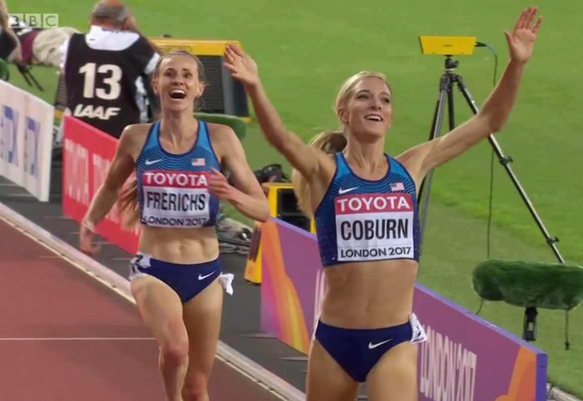 aaba3aacc1 Americans Emma Coburn and Courtney Frerichs Pull Off ...