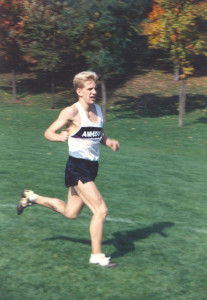 Andrew giving Amherst XC some positive news