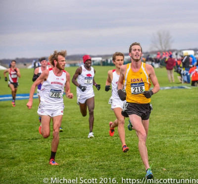 Miller, right, has scored for Iona at the last three NCAA XC meets