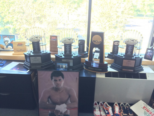 The trophy haul in Fox's office