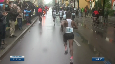 Bekele was dropped just after halfway