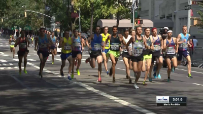 It was anyone's race with a quarter of a mile to go