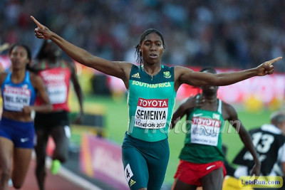 Semenya won her third world title in London in August