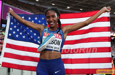 Wilson earned a world outdoor bronze to go with her silver from World Indoors last year