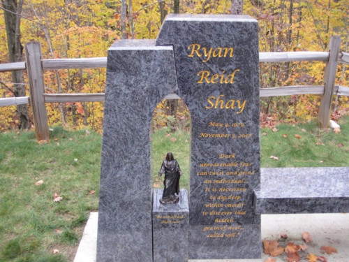 The monument at Shay's grave in Dunsmore Cemetery